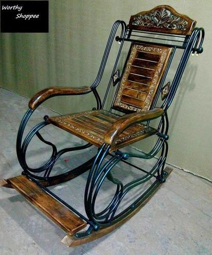 Iron Rocking Chair (Multi-Color)