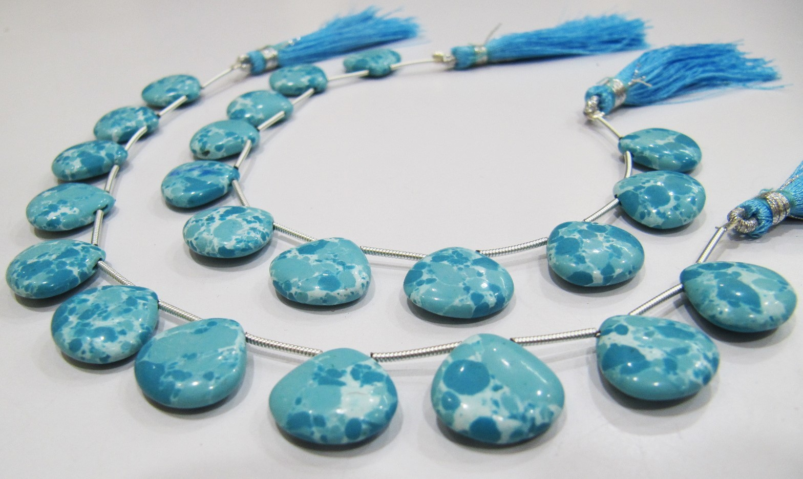 AAA Quality Blue Turquoise Smooth Plain Beads