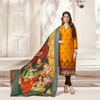 Fancy Embroidery Work Suit With Digitally Printed Dupatta