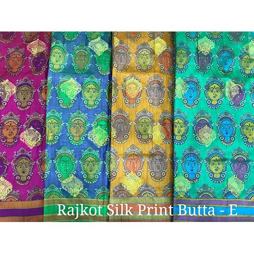 Silk Print Butta Fancy Sarees
