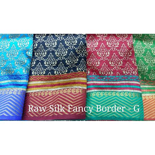 Multi Raw Silk Fancy Border Sarees