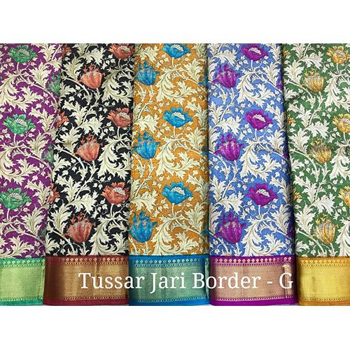 Tussar Jari Sarees With Border