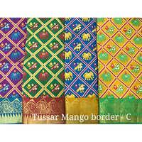 Tussar Mango Border Sarees