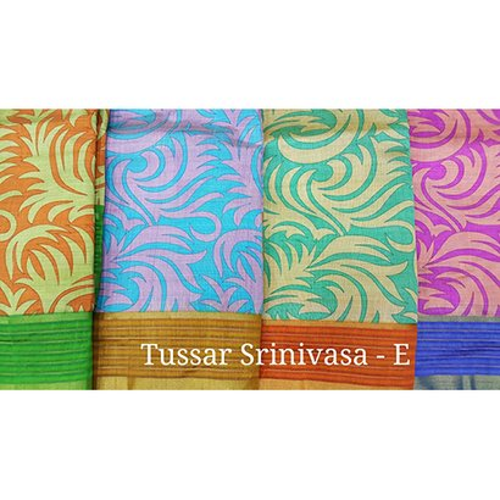 Multi Tussar Srinivasa Sarees