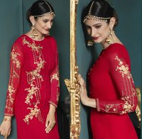 Designer embroidered suit