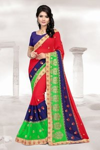 Border Designer Wedding Wear Saree