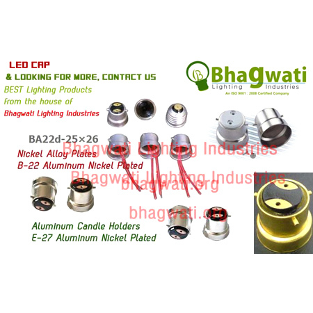 LED Nickel Cap for LED Lightings