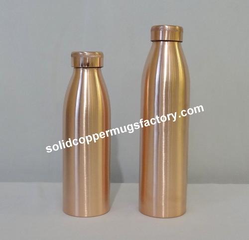 Copper Plain bottle in Matt Finish