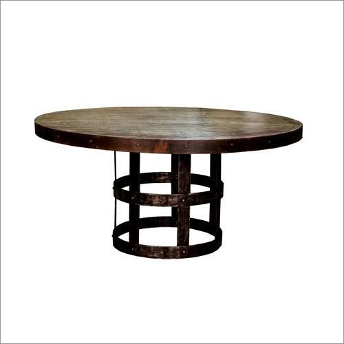 Vintage Industrial Round Table