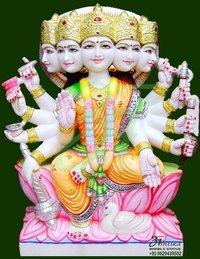 Gayatri Mata Marble Idol
