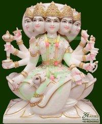 Marble Punchmukhi Gayatri Mata Statue