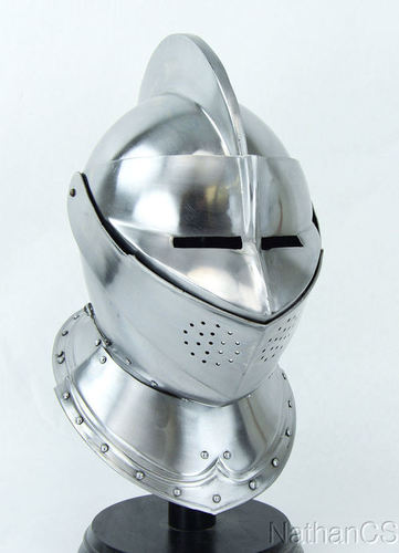MEDIEVAL KNIGHT BURGONET EUROPEAN CLOSED ARMOR HELMET HALLOWEEN ROLE PLAY REPLIC