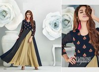 New Designed Kurti Gown Party Wear Theme For girls
