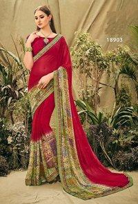 Designer Printed Daily Wear Sarees