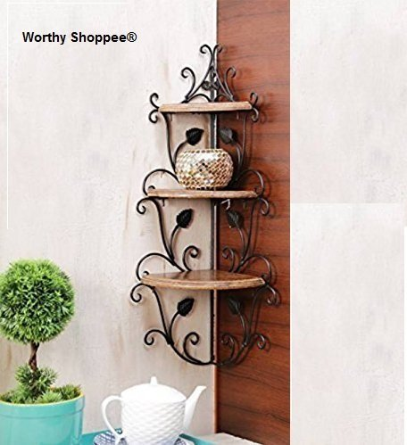 Wooden Corner Rack Home Decor Carved Wooden Shelves
