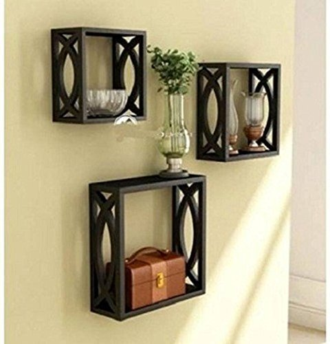 MDF Wall Shelf Size (LxBxH-10x3.5x10) inch