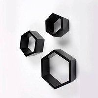 Hexagonal Floating Wall Shelves