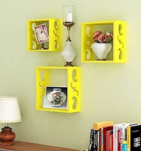 Home Decor MDF Wall Shelf Set Of 3