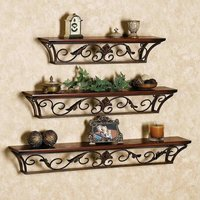 Decorative MDF Wall Shelves 3 Pcs Set