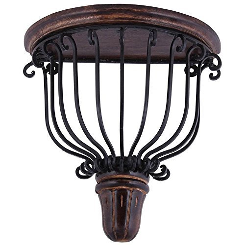 (Big Size)Fancy Mango Wood And Wrought Iron Wooden Wall Bracket/Shelve Decorative For Living Roomq