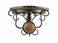 Wood & Wrought Iron Small Wall Bracket