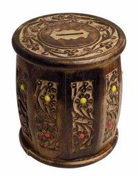 Wooden Money Bank Barrel Shape Kids Piggy Coin Box Gifts, 5.5 Inches