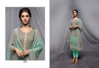 Embroidery Worked Designer Straight Salwar Suit