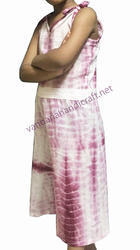 Bavy Dress Hand Block Printed Natural