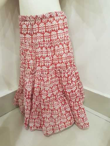 Baby Dress And Skirt Hand Block Printed Cotton Sanganeri Block Printed
