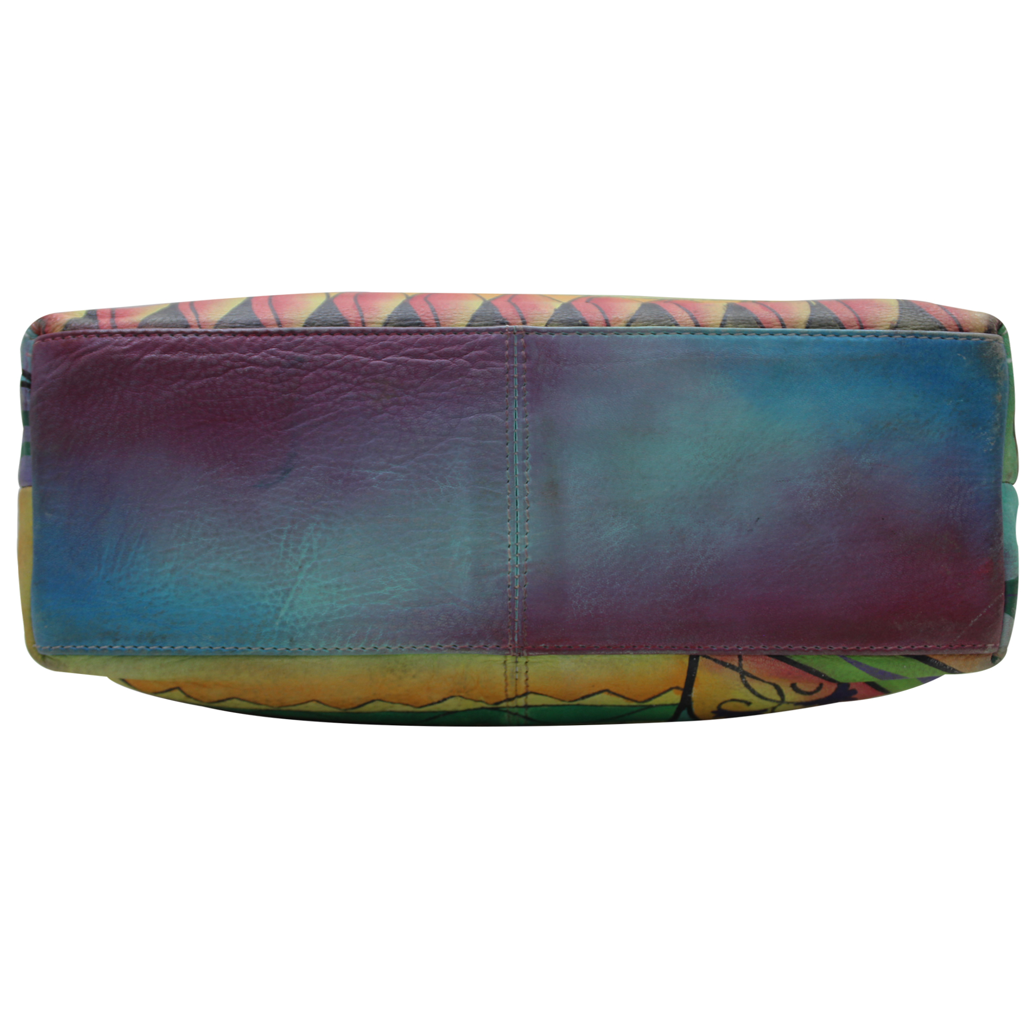 Women Hand Painted Leather Messenger Bag
