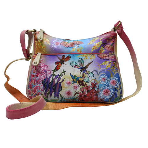New  Women Hand Painted Shoulder College Leather Bag Evening Party Vanity Purse