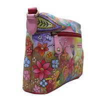 Women Hand Painted Leather Stylish Floral Designer Shoulder Vanity College  Bag