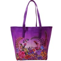 Women Hand Painted  Tote Bag Stylish Hand Held  bag  Designer Shopping  Bag  Butterfly Design