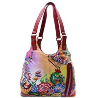 Women Hand Painted Shoulder Bag Stylish Ladies Hobo Floral Designer Bag