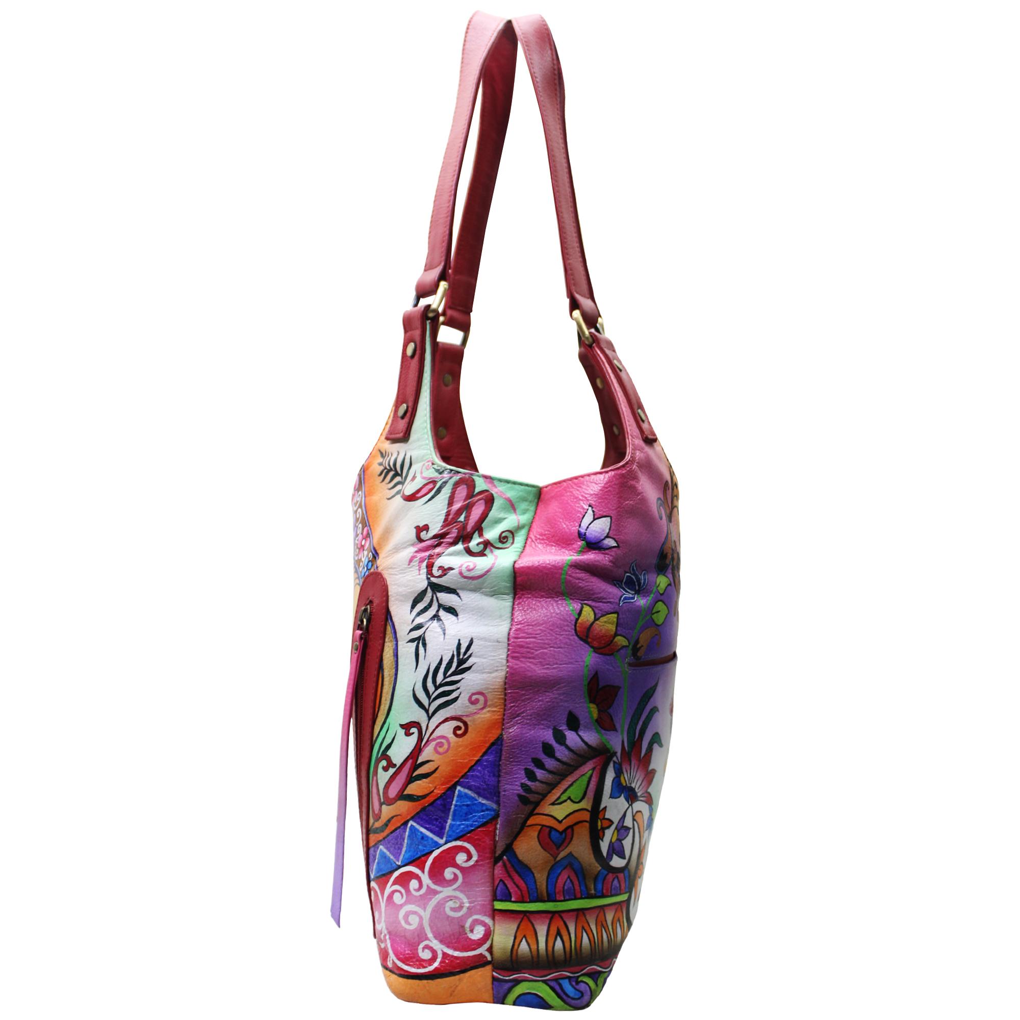 Women Hand Painted Leather Shoulder Bag