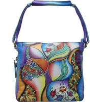 Woman Leather Hand Painted Shoulder Bag