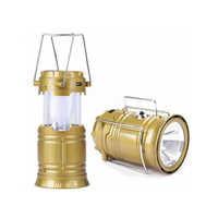 6 + 1 Led Solar Emergency Light Lantern, Usb Mobile Charging 2 Power Source Solar, Lithium Battery