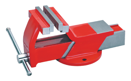 ALL STEEL VICE FIXED BASE WITH REPLACEABLE JAWS