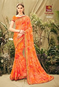 Fancy Georgette Print Sarees