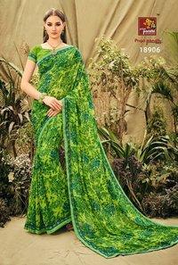 Fancy Georgette Print Sarees