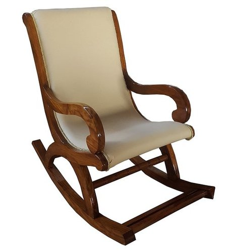Shesham Wood Rocking Chair With Cushion