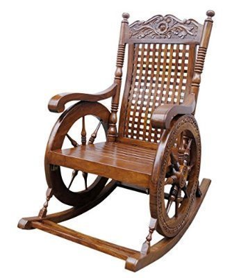 Pure Sheesham Wooden Rocking Chair