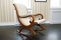 Rocking Chair Aaram Chair Wooden Rocking Chair With Cushion For Living Room Home Decor Garden Lounge
