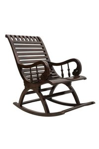 Enterprises Hand Carved Wooden Rocking Chair (Brown)
