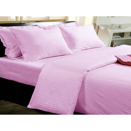Pink Linen Bed Sheet