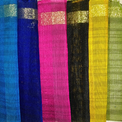 Multicolour Poly Chanderi Fabric