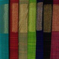 Multicolour Poly Chanderi Fabric