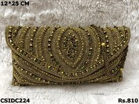 Antique Handwork Embroidery Clutch