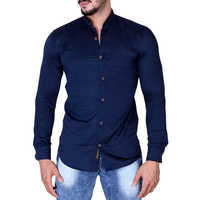 Cotton Blend Casual Shirt