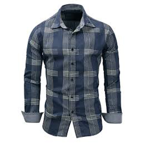 Long Sleeve Checkered Casual Shirt